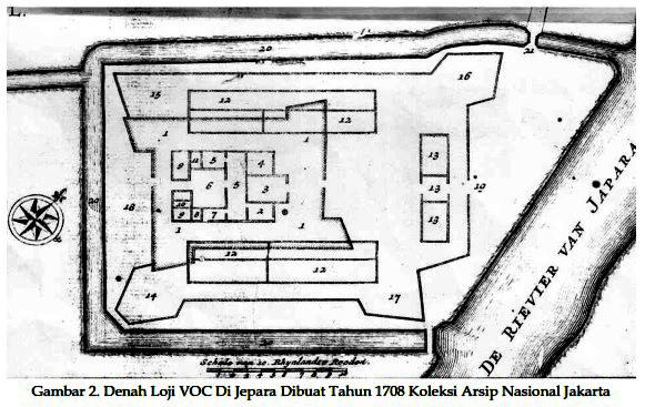 Denah benteng VOC/Arsip Nasional/ Dok. Jurnal Paramita Vol 25(1) Januari 2015