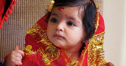 Cute Kanha Ji: Mata Rani Ji Ki Kanjak Beautiful Picture