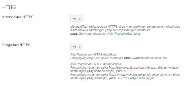 mensetting ketersediaan https untuk custom domain di blogger