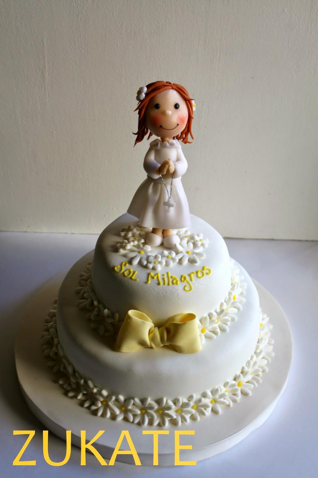tortas de comunion para nena