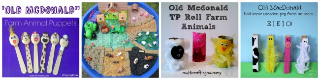 Farm Animal craft and activity ideas