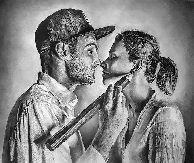 Portrait of Artist Ben Heine and Marta by Olamide Ogunade (OliscoArt)