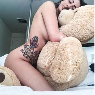 sex Girl with plushie having