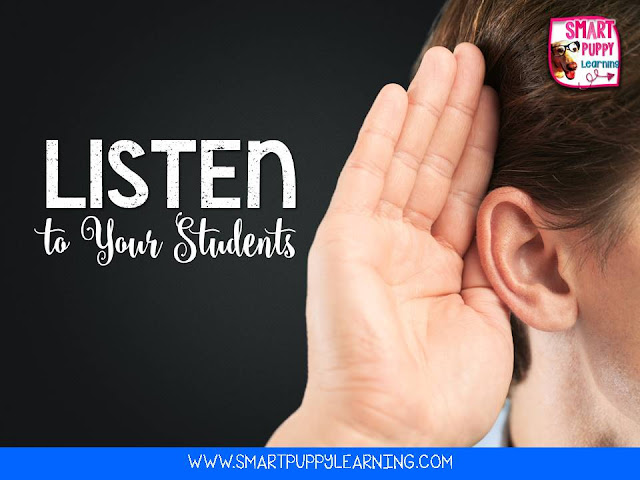As teachers it is important to listen to students to build trust