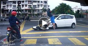 Thumbnail image for (Video) Isu Video Alza Langgar Motosikal Viral : Dua-dua Langgar Lampu Isyarat