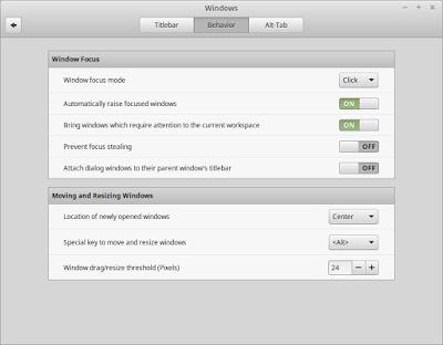 System Setting baru di Cinnamon 2.6