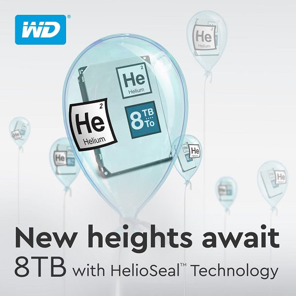 Western Digital HDD with HelioSeal Technology