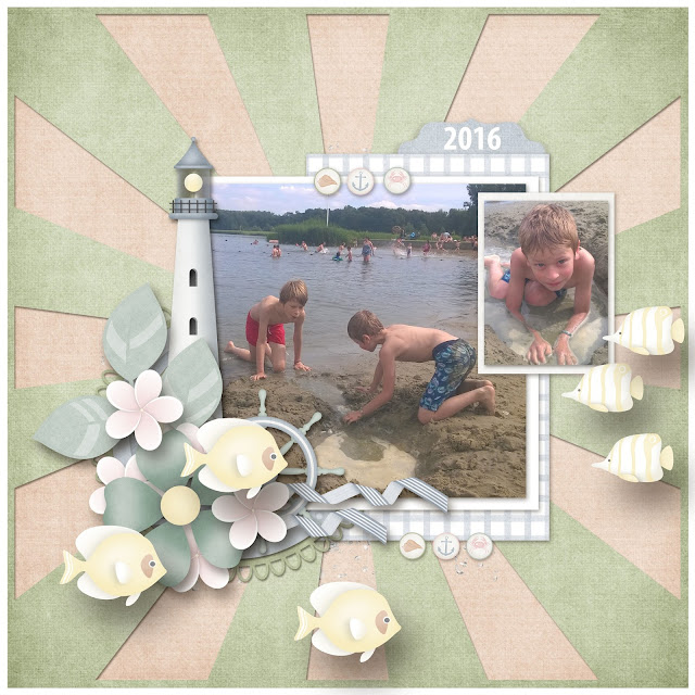 Seaside Serenade and Sunshine Template