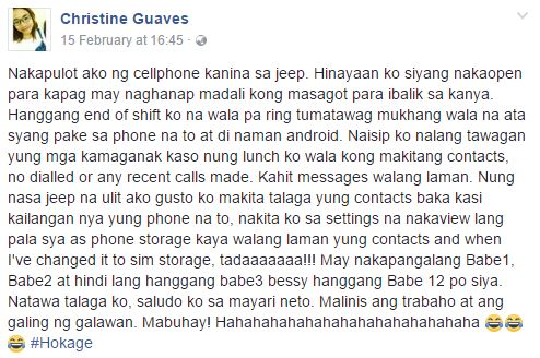 Female Passenger Finds A Suspicious Cellphone Left Behind in a Jeepney What's Inside Will Make You Laugh!