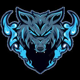 logo serigala mentah png