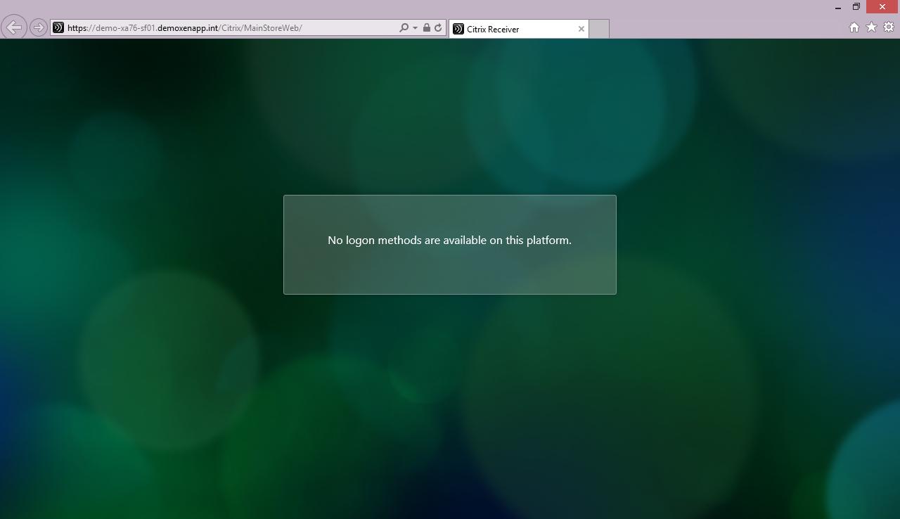 Citrix Receiver web reports