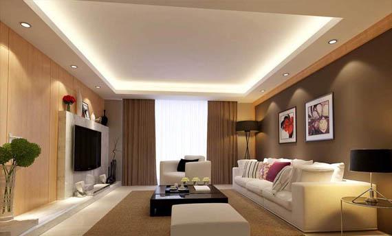 model plafon ruang tamu sederhana kecil
