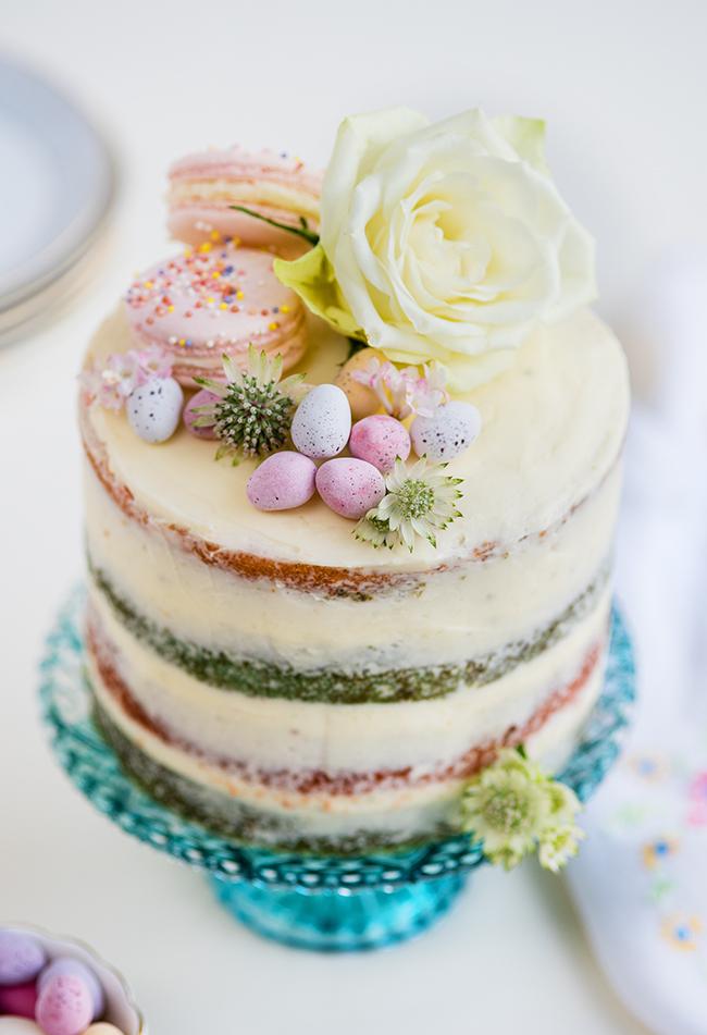 Rainbow Wedding Cake Layers