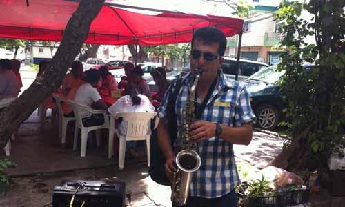 Saxofonista callejero de Veracruz