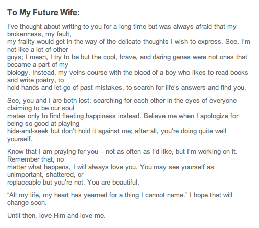 heatherlydee: to my future spouse