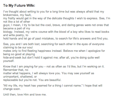 a letter to my future wife heatherlydee to my future spouse 24596 | tmfs to my future wife poems senstitive