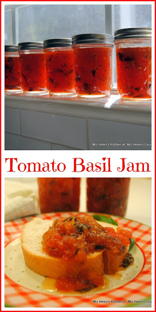 Tomato Basil Jam at Miz Helen's Country Cottage