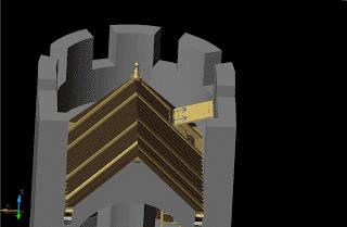 Plan du toit tour Saint-Nazaire - accès - extrapolation.
