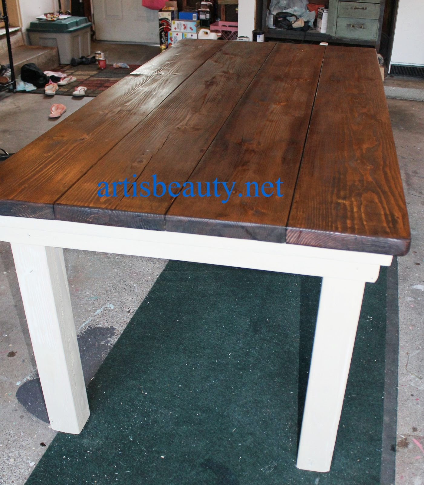 ART IS BEAUTY: How to build your own FarmHouse Table for