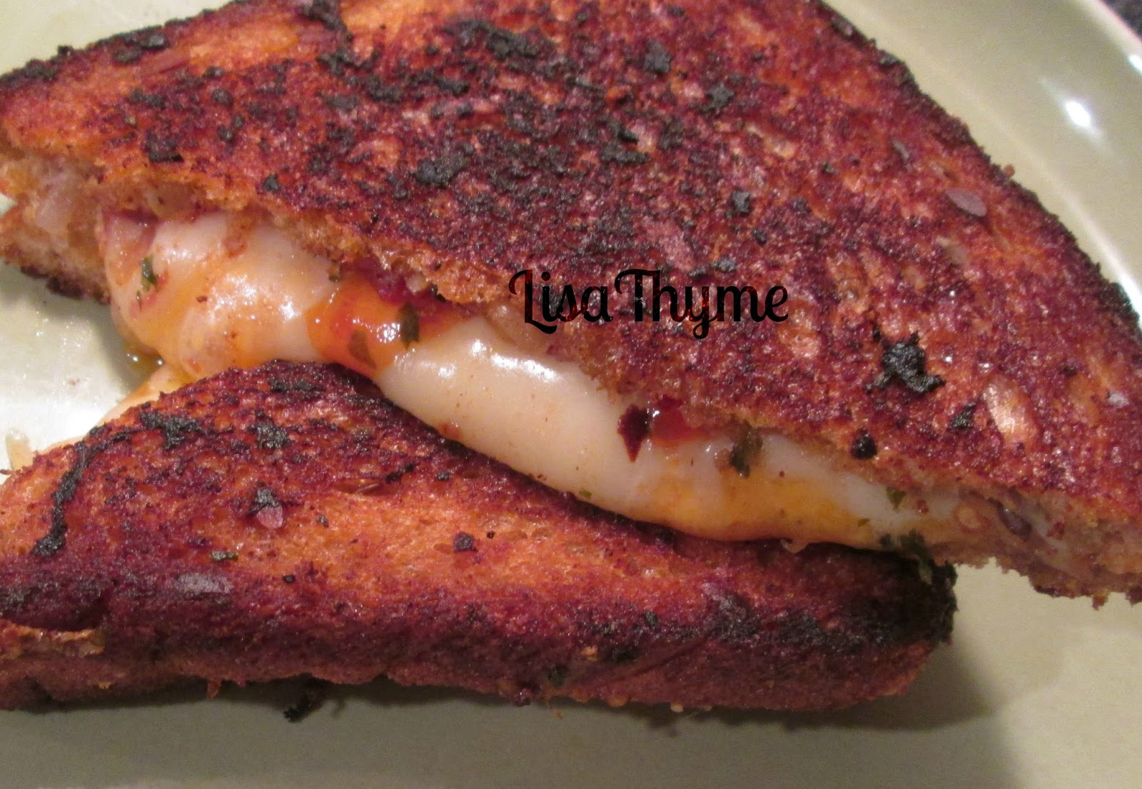 Lisa Thyme: Spicy Hot Tomato Grilled Cheese