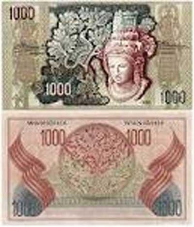 uang seribu 1952
