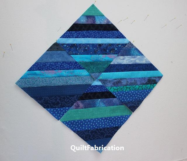 beginning ocean blocks for the Seafarer quilt
