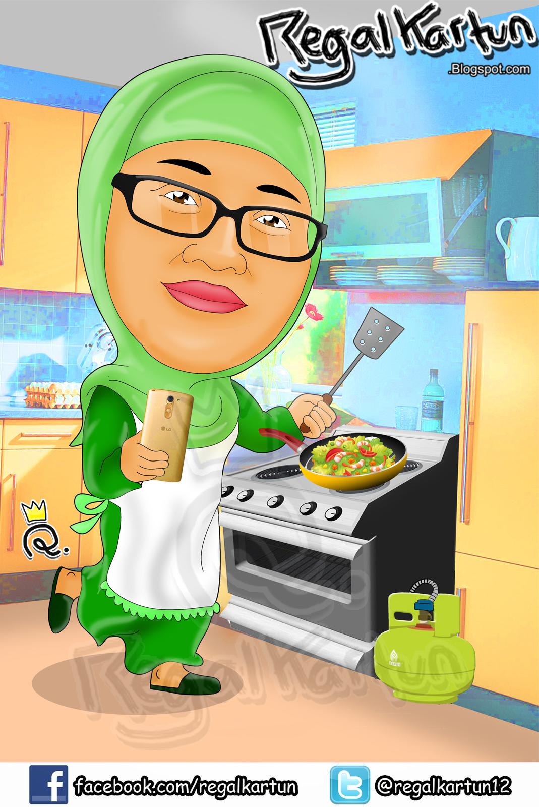 Gambar Ibu Sedang Memasak : gambar, sedang, memasak, Gambar, Animasi, Memasak, Bersama, Cikimm.com