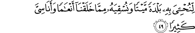 Al Furqan ayat 49