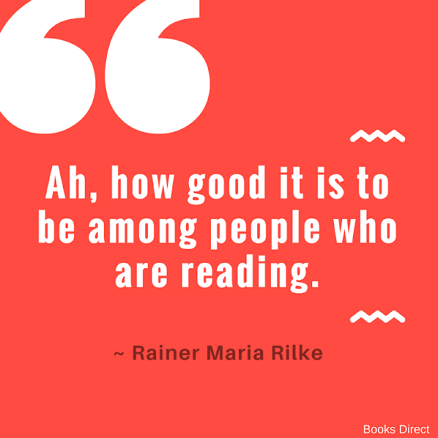 """""""Ah, how good it is to be among people who are reading."""" ~ Rainer Maria Rilke"""