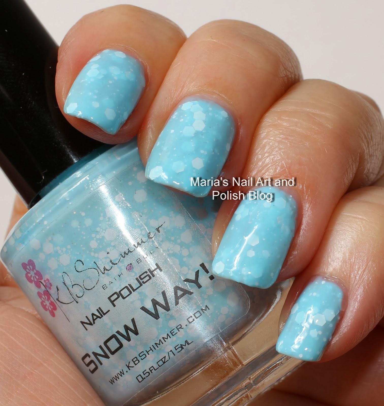 Marias Nail Art And Polish Blog: K. B. Shimmer Snow Way