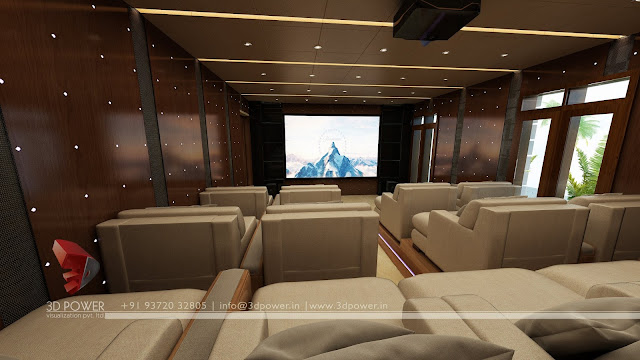 The Best Home Theater Interior Designing 3d Visualization Studio