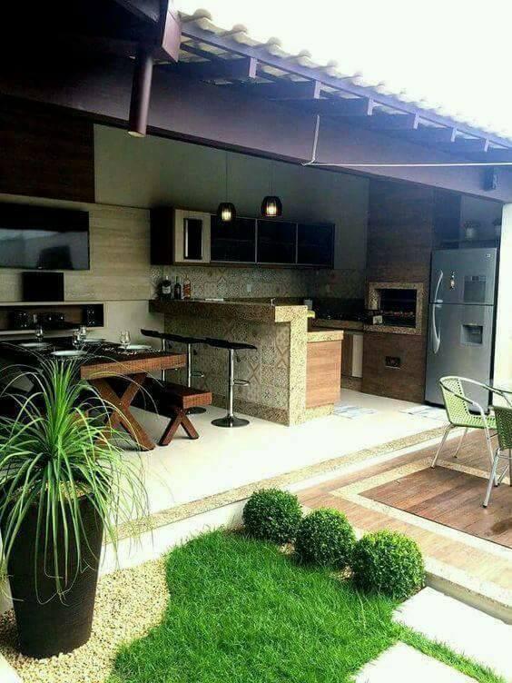 Gambar 13 Desain Dapur Terbuka Halaman Belakang Rumah