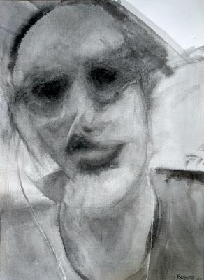 retrato tinta china Benjamin Vilella Pablo