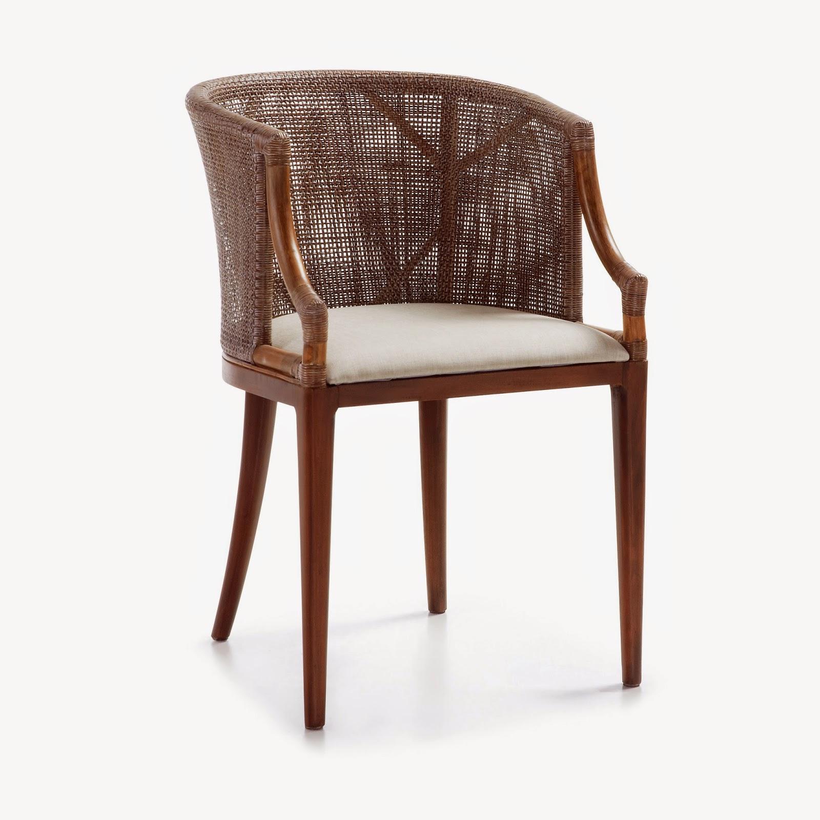Muebles de comedor 4 sillas de rattan para un comedor colonial - Sillas muebles ...