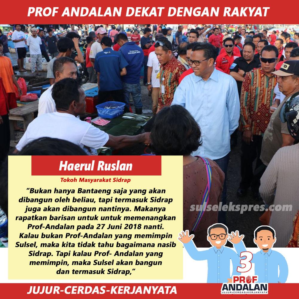 Prof Andalan Dekat Dengan Rakyat Untuk Membangun Sulsel