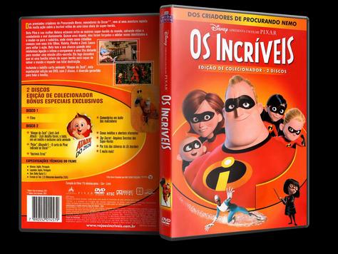 Capa DVD Os Incríveis - Edição de Colecionador - 2 Discos