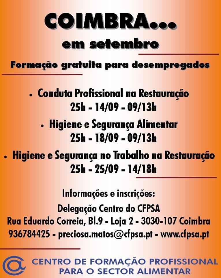formação gratuita para desempregados em Coimbra