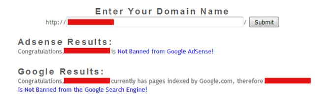 فحص حظر الدومين من جوجل ادسنس