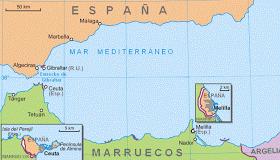 χωρικά ύδατα του ισπανικού θυλάκου της Θέουτα στο Μαρόκο