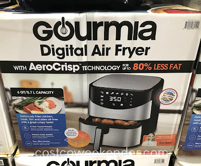 Enjoy crispy foods without the grease with the Gourmia Digital Air Fryer