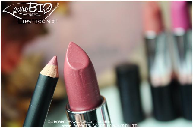 recednsione review lipstickn 02 rossetti purobio , lipstick, vegan makeup, bio makeup