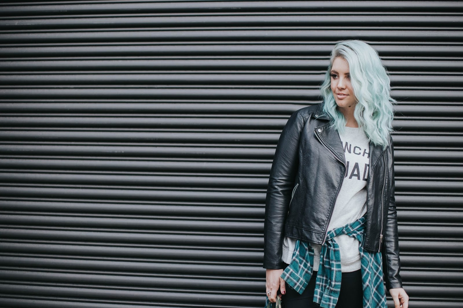 Blue Hair, Black Jacket, Portland