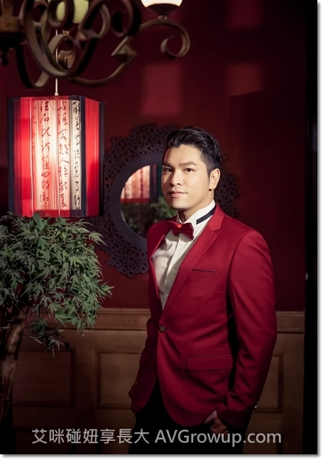 男士紅色西裝外套-婚紗西裝-婚紗道具