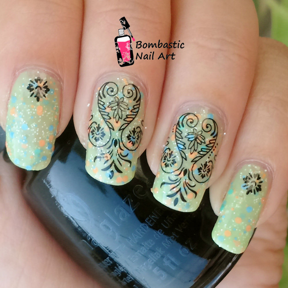 Black Lace Nail Art With Water Slide Decals Bombastic Nail Art