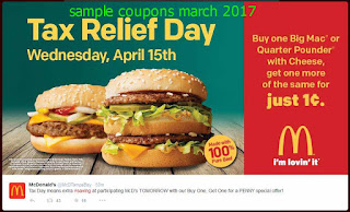 Mcdonalds coupons march 2017