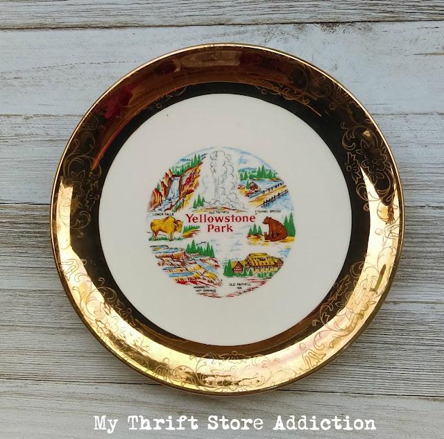 Yellowstone Park souvenir plate