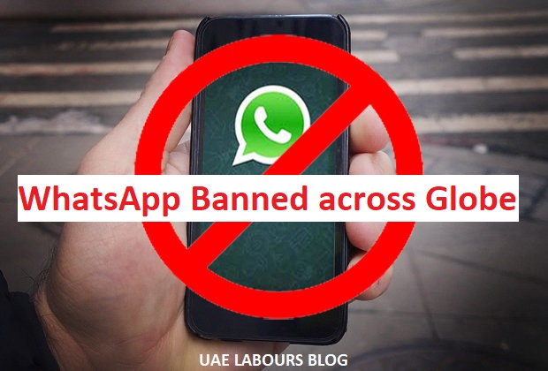 nosotros but received a notification well-nigh Skype Ban inwards United Arab Emirates WhatsApp non working
