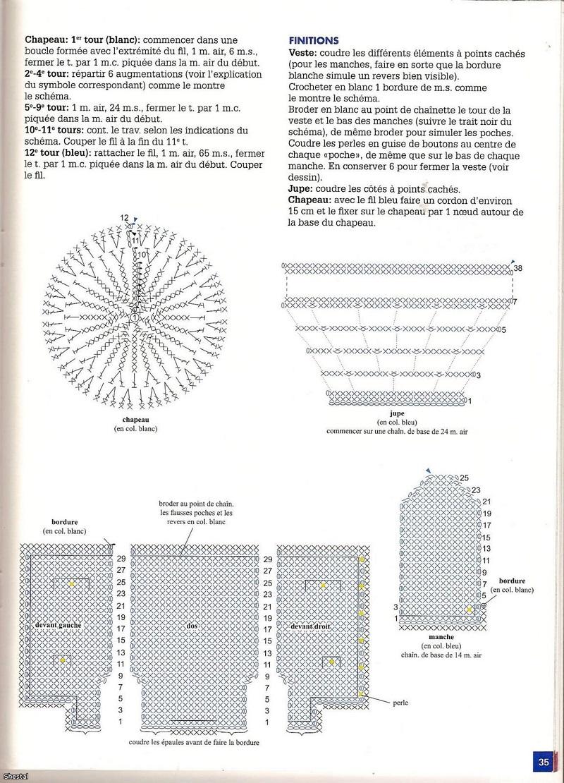 Casaco Cassino com gráfico revista 1000 mailles