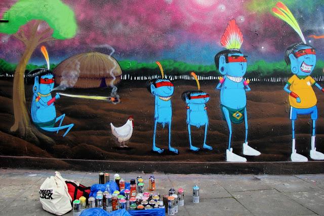 Street Art Mural By Brazilian Artist Cranio In East London, UK. 3