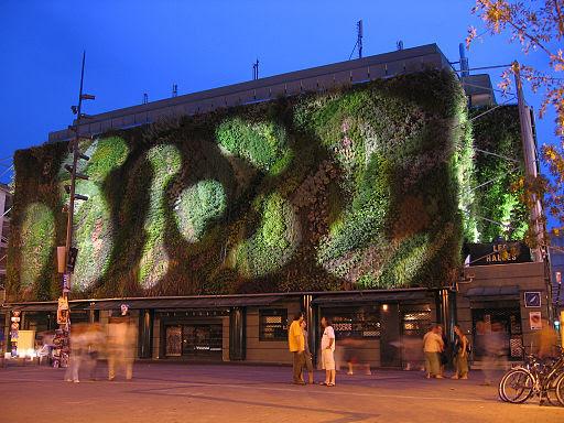 Muro vegetal o jardín vertical diseñado por Patrick Blanc